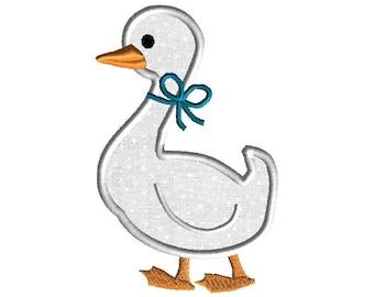 Goose Applique Machine Embroidery Design-INSTANT DOWNLOAD