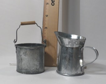 Metal Bucket and Pitcher