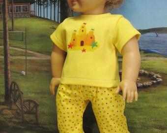 Sandcastle Beachwalker Outfit for American Girl Doll