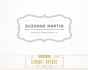 DIY INSTANT DOWNLOAD - Modern Logo Design for Photography or Boutique by Summit Avenue