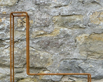 "Large letter L / Metal / Letter / Free-Standing / Industrial / Vintage / Rustic / Floral / Gift / Wedding / Home / 45cm / 17.5"""