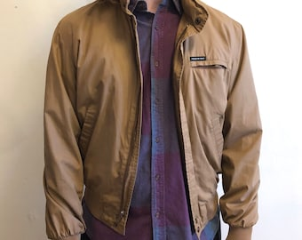 Members Only Bomber Jacket, Tan, 90s