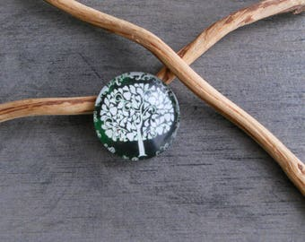 Round tree of life glass Dome cabochon