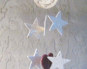 Moon and Stars Love You to the Moon and Back Wind Chimes