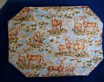 Set of 4 Deer Placemats