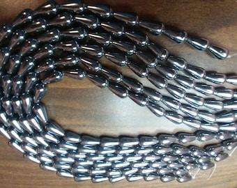 8x16mm Hematite Teardrop strands - (x99998)