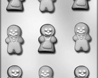 Gingerbread Boy and Girl Christmas Chocolate Candy Mold