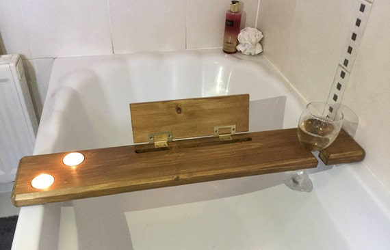 Wooden bath tray-bath board-wooden bath caddy-wine glass