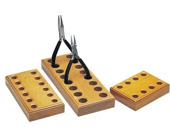 Wooden Tool Holder - Holds up to 8 pair of plier like tool.