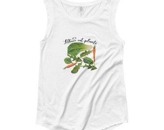 Lettuce Eat Plants Cap Sleeve T-Shirt