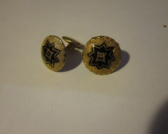 1910s Gold Art Noveau Cuff Links