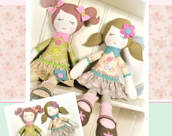 PDF - Bella & Trudie Rag Doll Pattern - Instant Download
