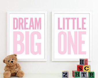 Baby Girl Nursery Art Prints Girl Nursery Decor, Kids Wall Art Baby Girl Gift for Girl, Playroom Rules Sign Decor