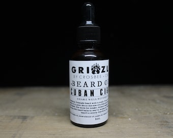 CUBAN CIGAR Beard oil Scent beard care, all natural beard, dad gift, Gift for men, gift under 10, stocking stuffer, Beard Conditioner