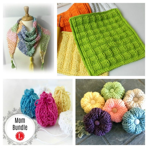 Loom Knitting Mothers Day Patterns Bundle Of Four 4 Shawl