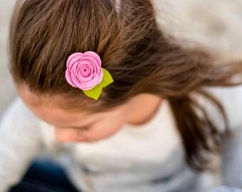 Felt Hair Clips. Felt Baby Bows. Baby Girl Bow Set. Flower Hair Clip. Hair Clip Set. Pink Flower Hair Clip. Toddler Hair Clip. Felt Hair Bow