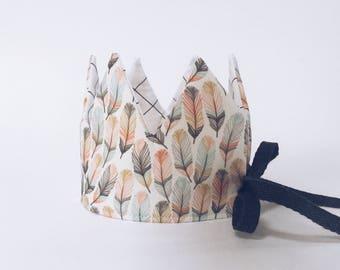 Children's Crown - Birthday Crown - Kid's Crown - Party Hat - Party Crown - Crown Costume - Feather Crown - verjaardagskroon - king's hat