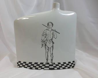 """Porcelain vase hand painted """"Companion"""""""