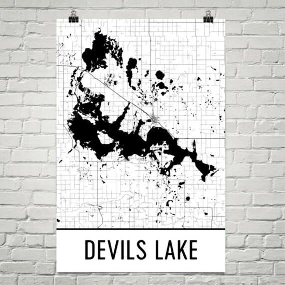 Devils Lake North Dakota Devils Lake ND Devils Lake Map
