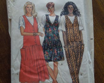 Butterick 4931, sizes 6-12, pullover top, jumper, jumpsuit, UNCUT sewing pattern, craft supplies