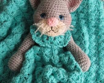 Crochet Pattern Cat Huggy Blanket by Teri Crews instant download PDF format