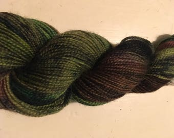 hand dyed, superwash highland wool sock yarn