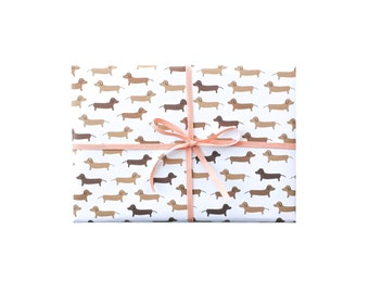 Dachshund Wrapping Paper, Dachshunds Gift Wrap, Doxie Wrap, Dog Wrapping Paper