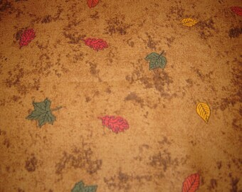 Fall Autumn Leaves With Brown Background By Debbie Mumm Sold By The Yard