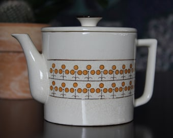Orange Patterned Vintage Teapot/Retro Design/Retro Kitchen/Tea Party