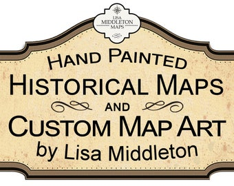 Custom Map 25.00 art show sale