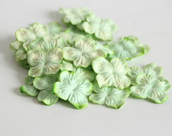 500 pcs - Soft green Mulberry Paper Small Hydrangeas - Wholesale pack