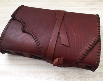 Leather Journal - Whisky Journal - soft wrap journal - Brown