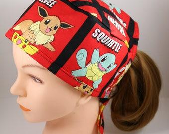 Red Pokemon Scrub Cap
