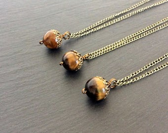 tiger eye necklace, tiger eye jewelry, tiger eye pendant, tigers eye stone, crystal necklace, necklace, tiger eye. tigers eye necklace