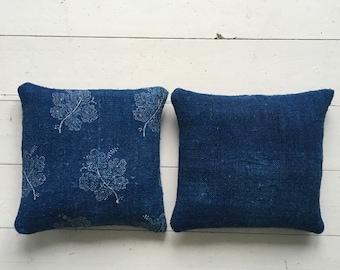 Indigo Linen Lavender Pillows Bags Sachets Hand Made Drawer WardrobeHungarian Natural Lavender LinenHand Dyed Indigo