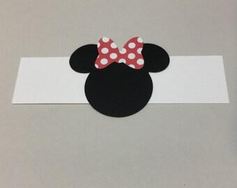 Minnie Mouse napkin wraps- set of 12