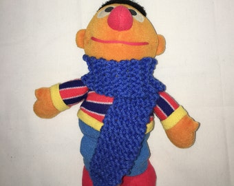 Knitted Royal Blue Doll, Toy or Elf Scarf