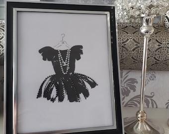 Hand beaded Chanel Little Black Dress