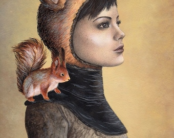 Squirrel Girl ORIGINAL PAINTING