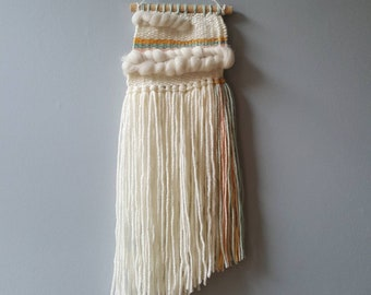 Small Fluffy Pastel Woven Wall Hanging