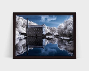 Gibson Mill in Infrared - Original Photographic Print