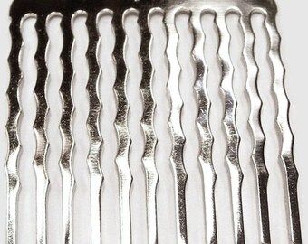 6 Metal Hair Combs - 35mm (1 3/8 inch)