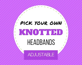 PICK ANY Knotted Headband ||| Baby Headband, Toddler Headband, Infant Top Knot Headband, Jersey Headband, Baby Jersey Headband, Photo Prop