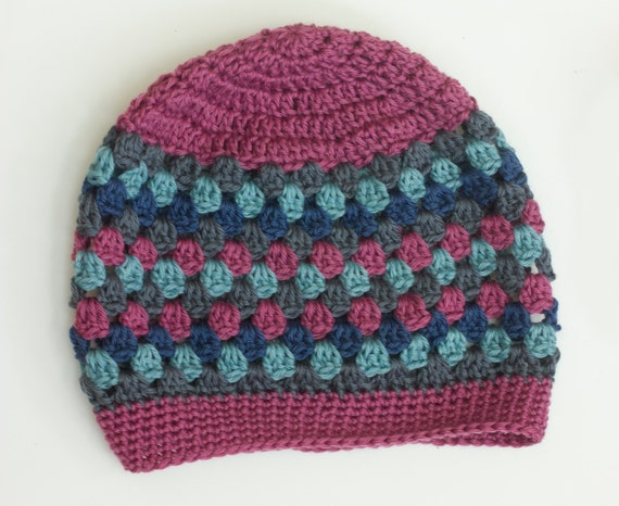 Crochet Pattern Slouchy Hat Granny Square Slouch Hat