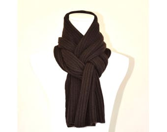 Cashmere scarf , Chocolate Brown.