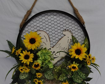 Rooster/Sunflower Wall Decor