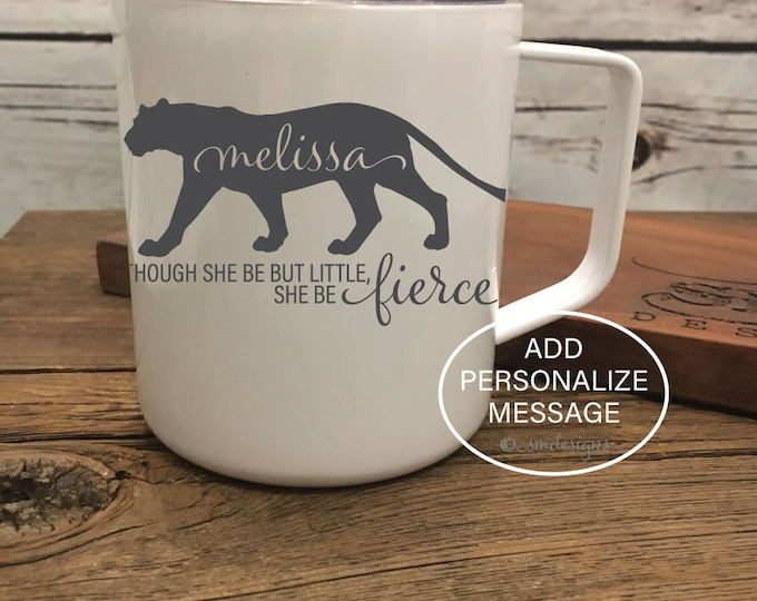 Personalized Name Fierce Coffee Mug Wife Gift Idea Fierce Coffee Cup Double Insulation