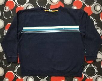 vintage hang ten dark blue sweatshirt rainbow