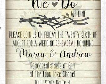 Wedding Rehearsal Invitation