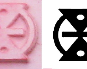Tiny African Adinkra Stamp Tool MMERE DANE Design Stamping Tool - Life Changes, Time Changes